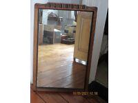 Edwardian Dark Wood Mirror