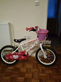 Childrens Hello Kitty bike