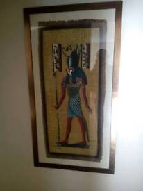 Egyptian Papyrus Oil Painting