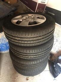 "Kia Venga Steel Wheels & Tyres 6x15"""