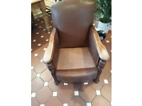 Antique leatherette arm chair