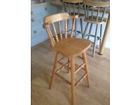4 x country wooden stools