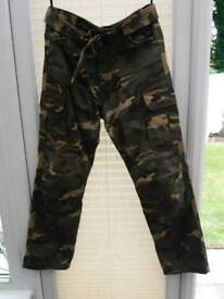 RST Camoflage jeans motorcycle trousers
