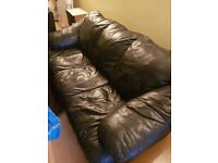 Leather 3 seater chairs for sale x2 very good condition