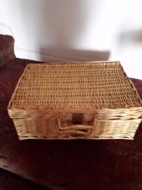 Wicker Picnic Hamper, with china and cutlery