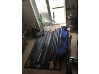 Fishing gear- poles, rods, rollers etc