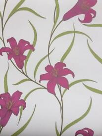 White/pink wallpaper £5 per roll