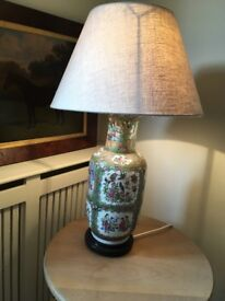 Pair of Chinese vase lamps with Neptune Lampshades