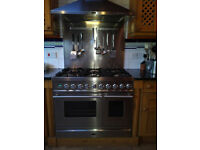 Britannia Range Cooker Hob, double oven, Hood and Slpashback – move forces sale, London