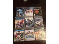 Sony PlayStation 3 with two controllers and 9 games £65