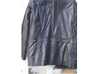 Italian Black leather jacket large. Absolute new condition. Posting within UK