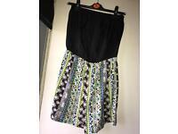 Women's black/patterned playsuit, size 14