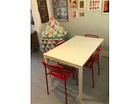 White IKEA table for sale