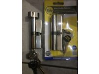 2x Unused Yale Euro Profile Cylinder Locks