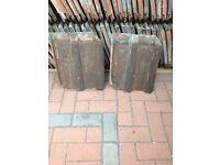 SECOND HAND CLAY DOUBLE ROMAN ROOF TILES