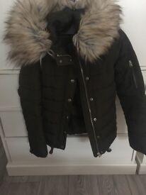 Khaki women's coat