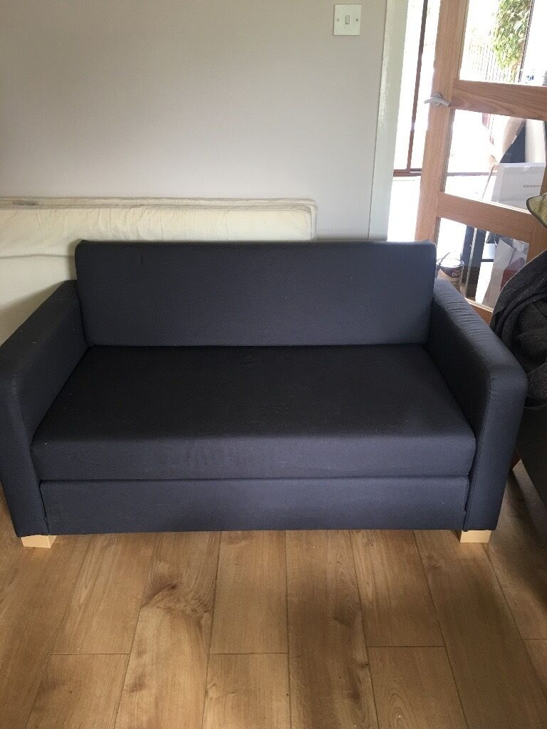 Ikea Askeby Small Sofabed Blue 2016 Great Condition