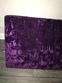 Purple crushed velvet Pelmet