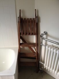 French vintage wooden ladder