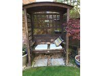 Garden seat, (Arbour)