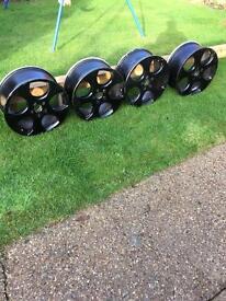 """18"""" Monza black alloys set of four"""