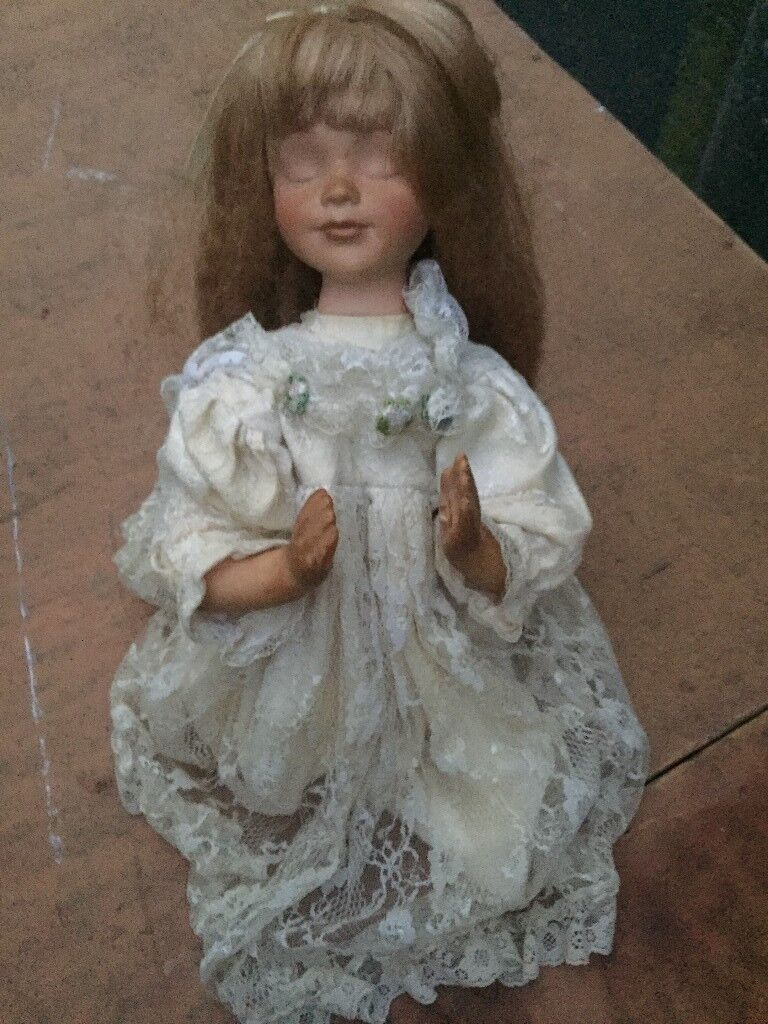 porcelain praying doll limited edition
