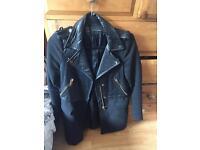 Stunning black Zara coat size S