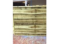Super heavy duty fence waney lap fence panels