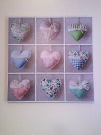 Pretty hearts canvas