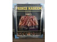 Rare prince naseem signed shorts in lit up case , real collectors piece