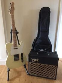 Squire telecaster and vox amp