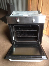 Zanussi Electric Oven & Hotpoint Extractor, Both Stainless Steel