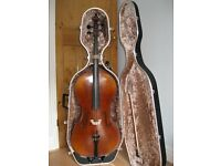 4/4 Bohemia Cello, Liother Seifert bow, and hard case