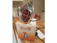 guarded heat lamp with bulb