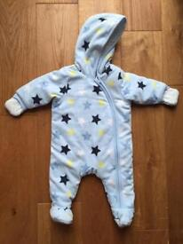 M & Co Baby Boy Snowsuit Age 0-3 months