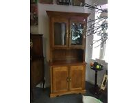 DRESSER \ DISPLAY CABINET. QUALITY WOOD. LOVELY DETAIL. 2 PARTS FOR EASY TRANSPORTATION. LOVELY
