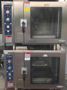 Gas alto shaam double stackable combi convection ovens