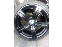 Bmw 19 inch M Sport alloys alloy wheels and tyres