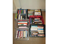 Job lot of over 100 books, novels, cooking, history, gardening, autobiography and more. £35 ono