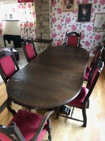 Dark Wood Dinning Table.