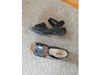 Clarks cushion soft sandals size 7