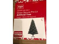 Argos 6 Ft Green Spruce Artificial Christmas Tree