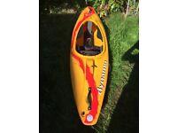 Dagger Dynamo kids (20-60kg) kayak designed to inspire confidence and develop boat handling
