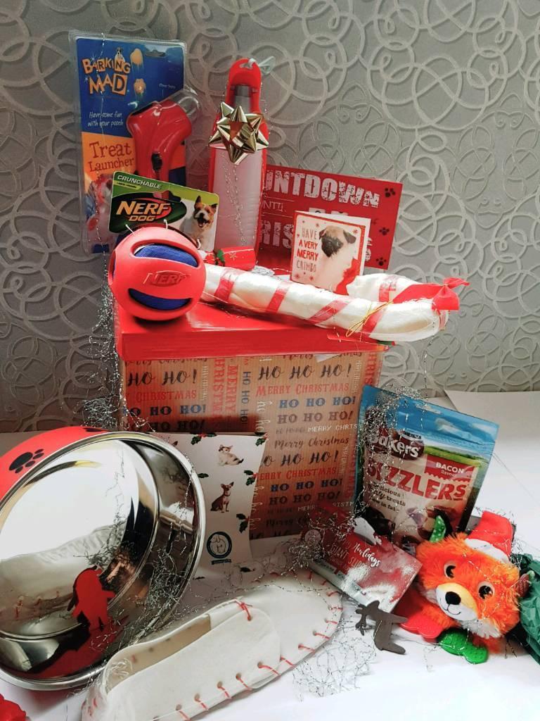 Santa's ho ho ho chistmas dog goodie box