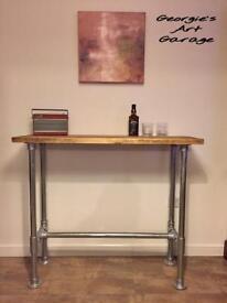 Unique handmade very stylish industrial look breakfast/kitchen/living room bar