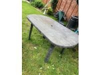Grey garden table