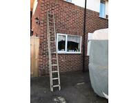 11ft double extension ladder metal