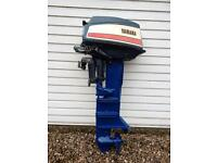 Yamaha 20 outboard motor, fishing or day boat engine.