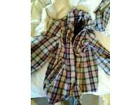 Purple and White Check Coat, size 14, atmosphere