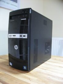 HP Mini-tower Windows 10 PC. Wi-Fi Internet. Fast 3.2GHz Core2Duo, 500GB HDD, 4GB RAM. Like New!